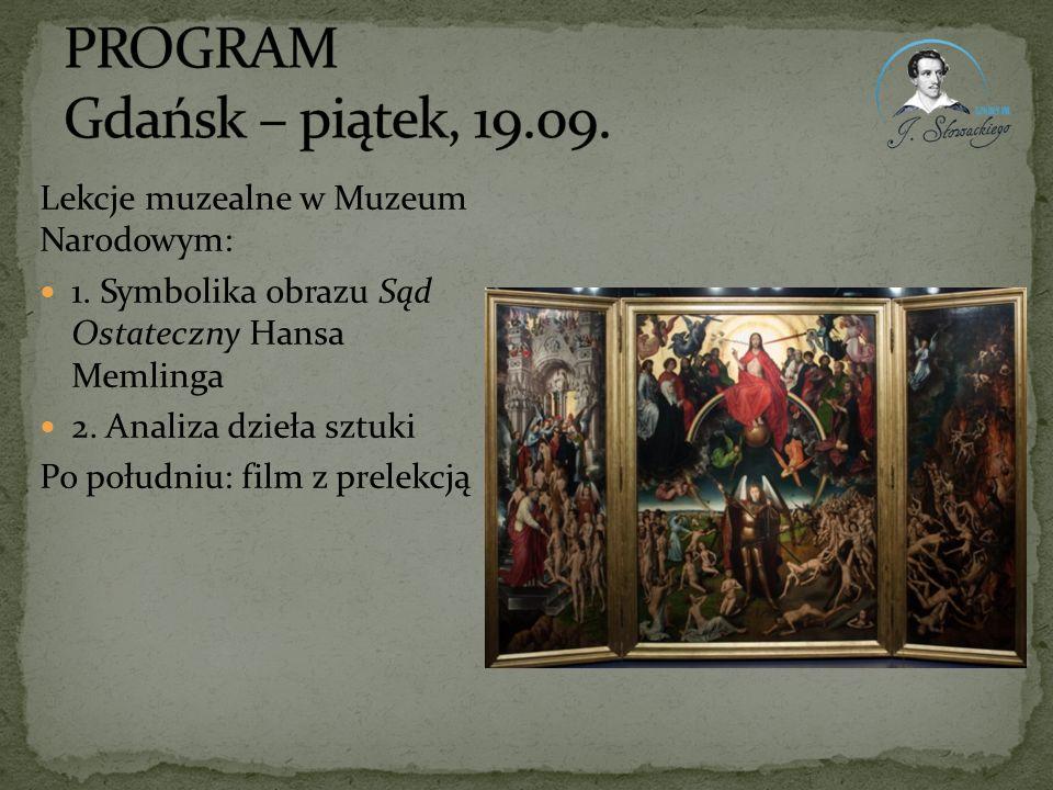 PROGRAM Gdańsk – piątek, 19.09.