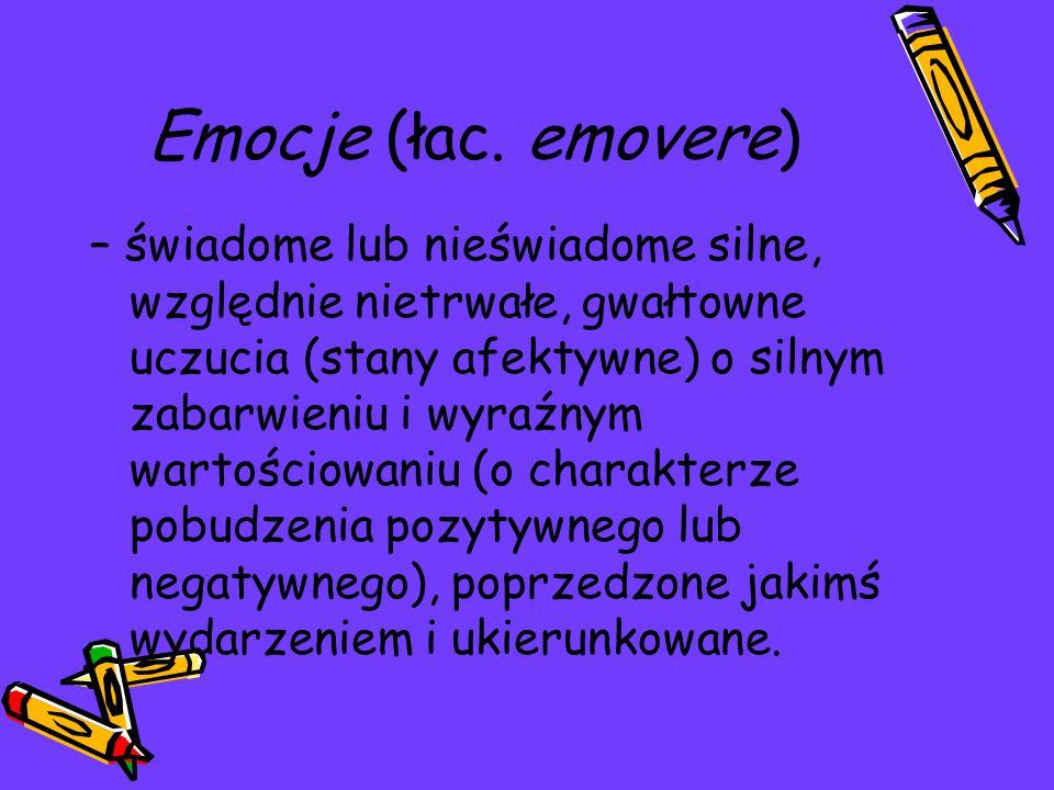 Emocje (łac. emovere)