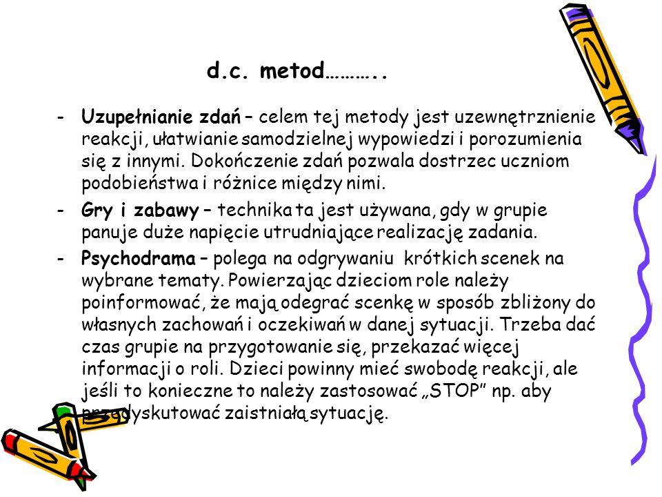 d.c. metod………..