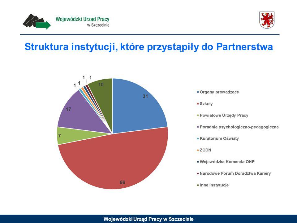 Struktura instytucji, które przystąpiły do Partnerstwa