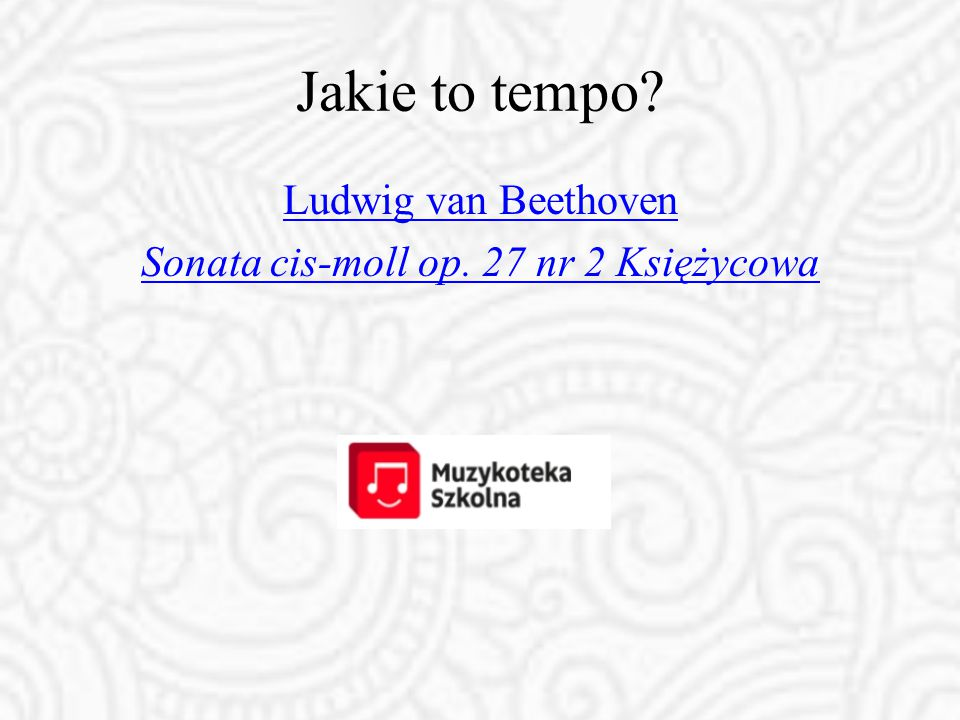 Ludwig van Beethoven Sonata cis-moll op. 27 nr 2 Księżycowa