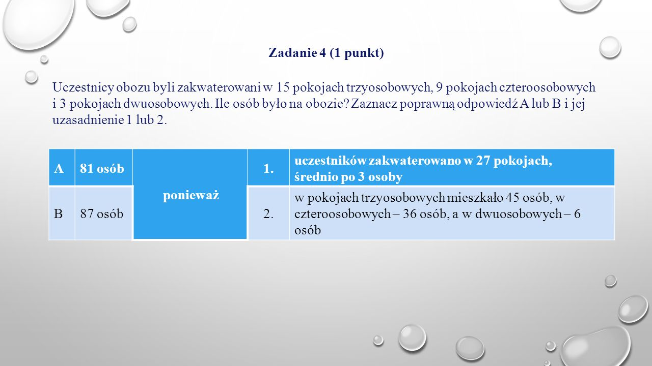 Zadanie 4 (1 punkt)