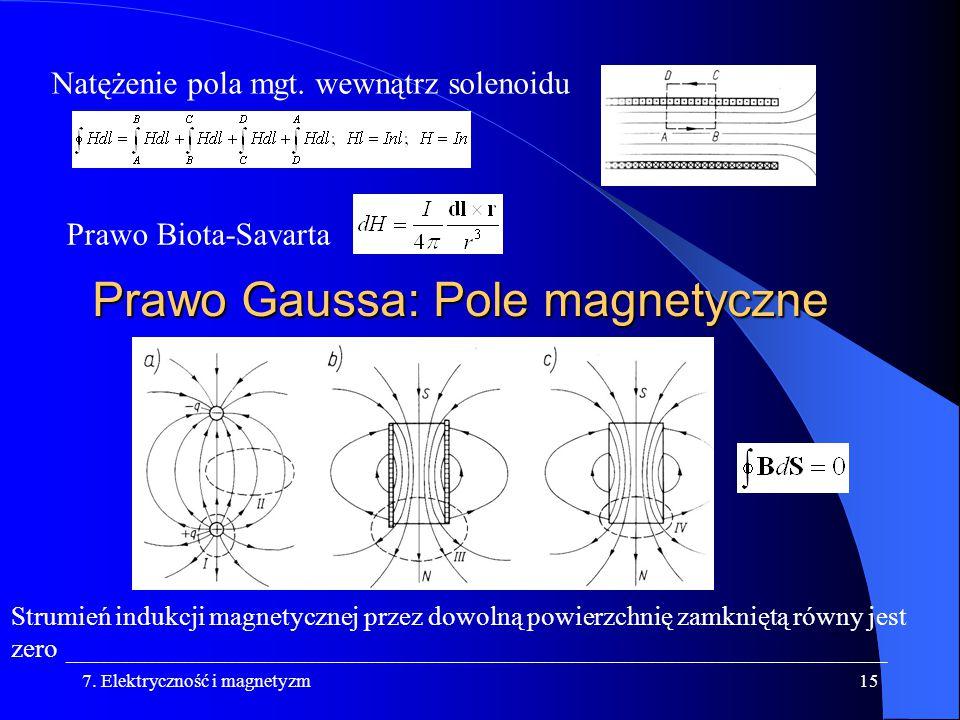 Prawo Gaussa: Pole magnetyczne