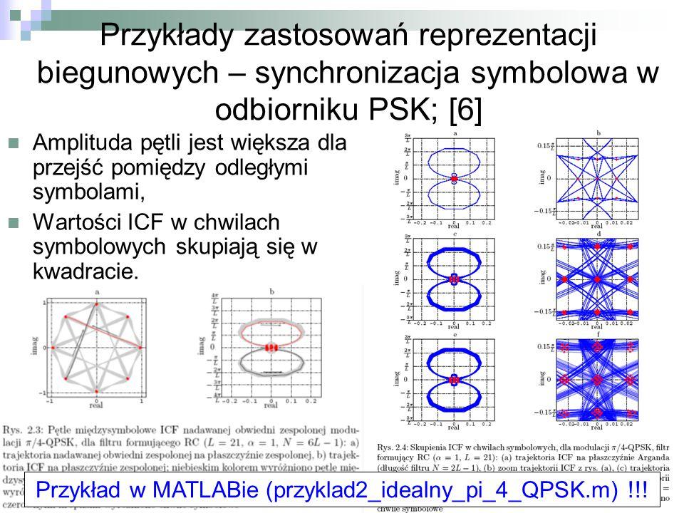 Przykład w MATLABie (przyklad2_idealny_pi_4_QPSK.m) !!!