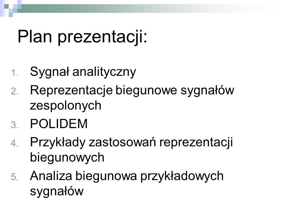 Plan prezentacji: Sygnał analityczny