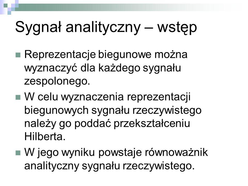 Sygnał analityczny – wstęp