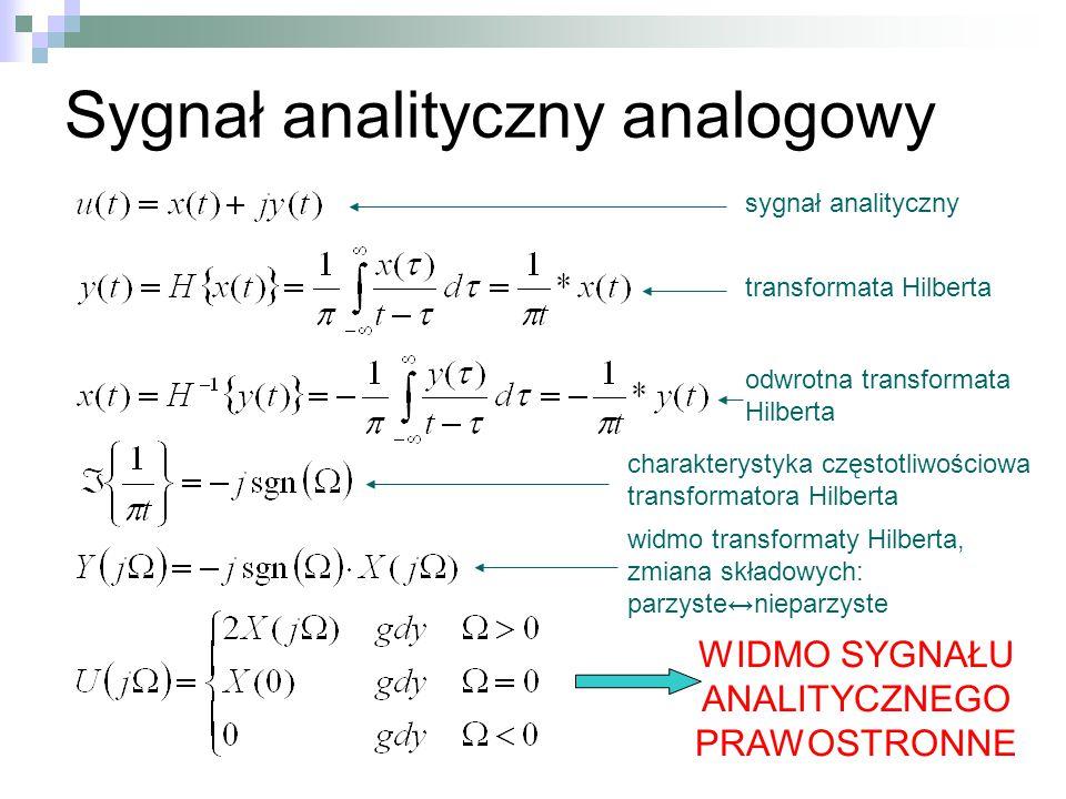Sygnał analityczny analogowy
