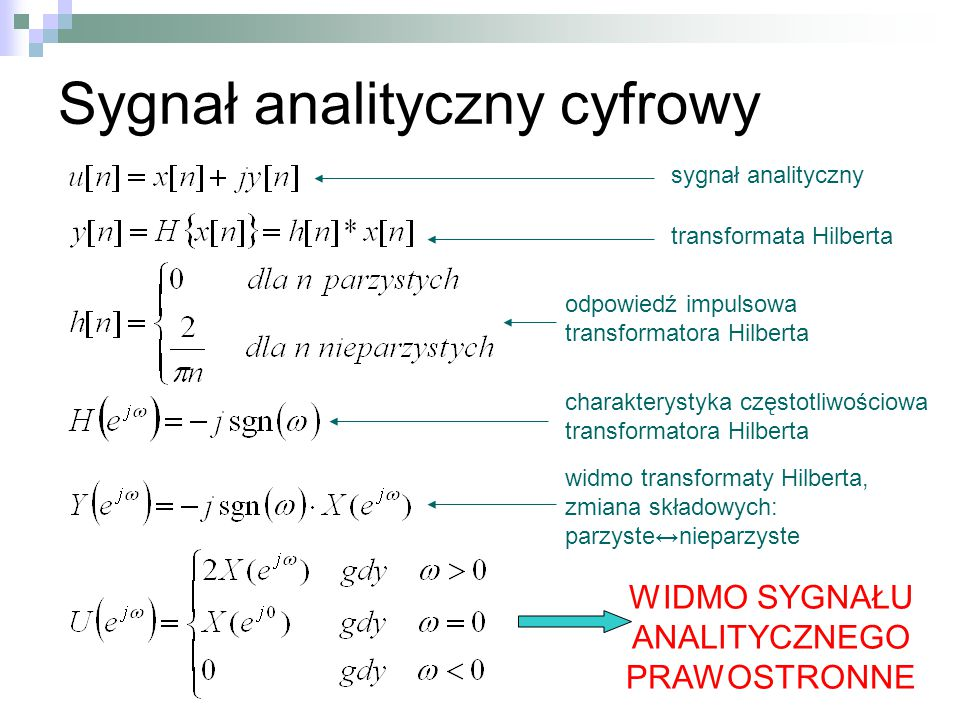 Sygnał analityczny cyfrowy