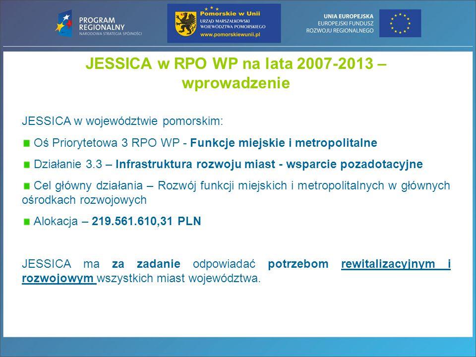 JESSICA w RPO WP na lata 2007-2013 – wprowadzenie