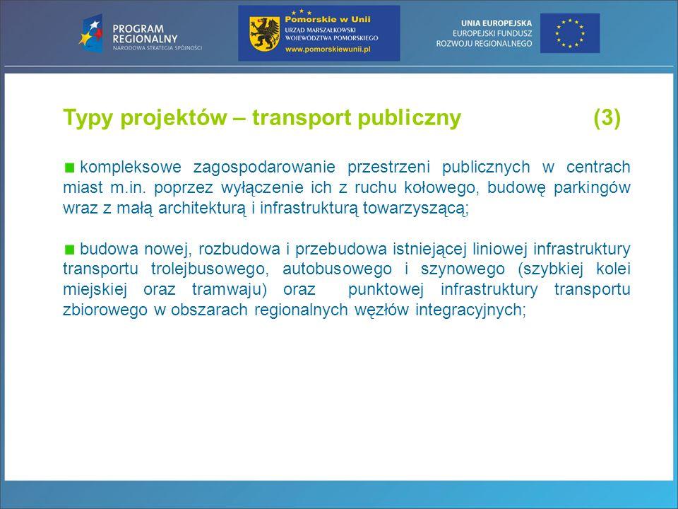 Typy projektów – transport publiczny (3)