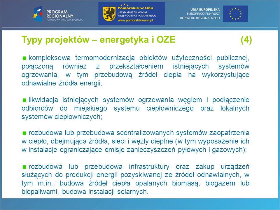 Typy projektów – energetyka i OZE (4)