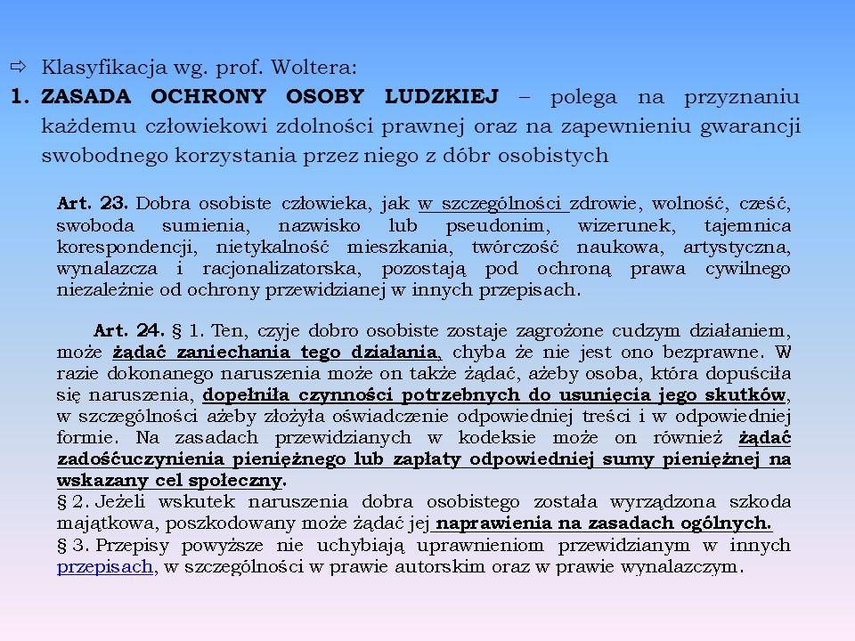 Klasyfikacja wg. prof. Woltera: