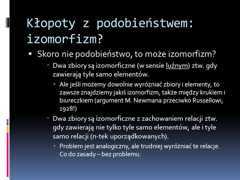 Kłopoty z podobieństwem: izomorfizm