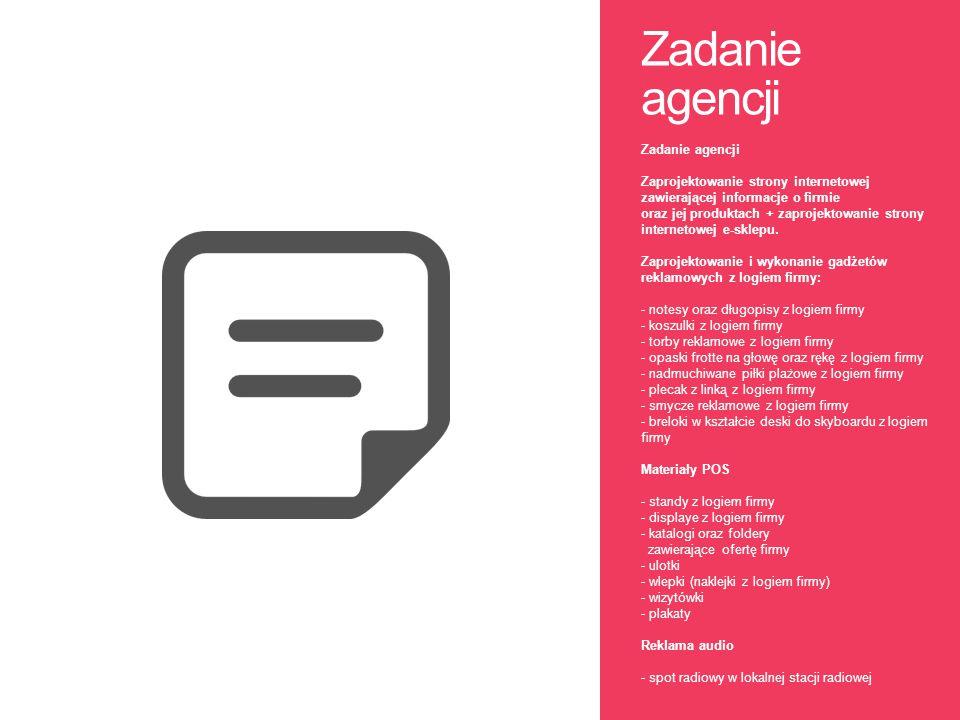Zadanie agencji