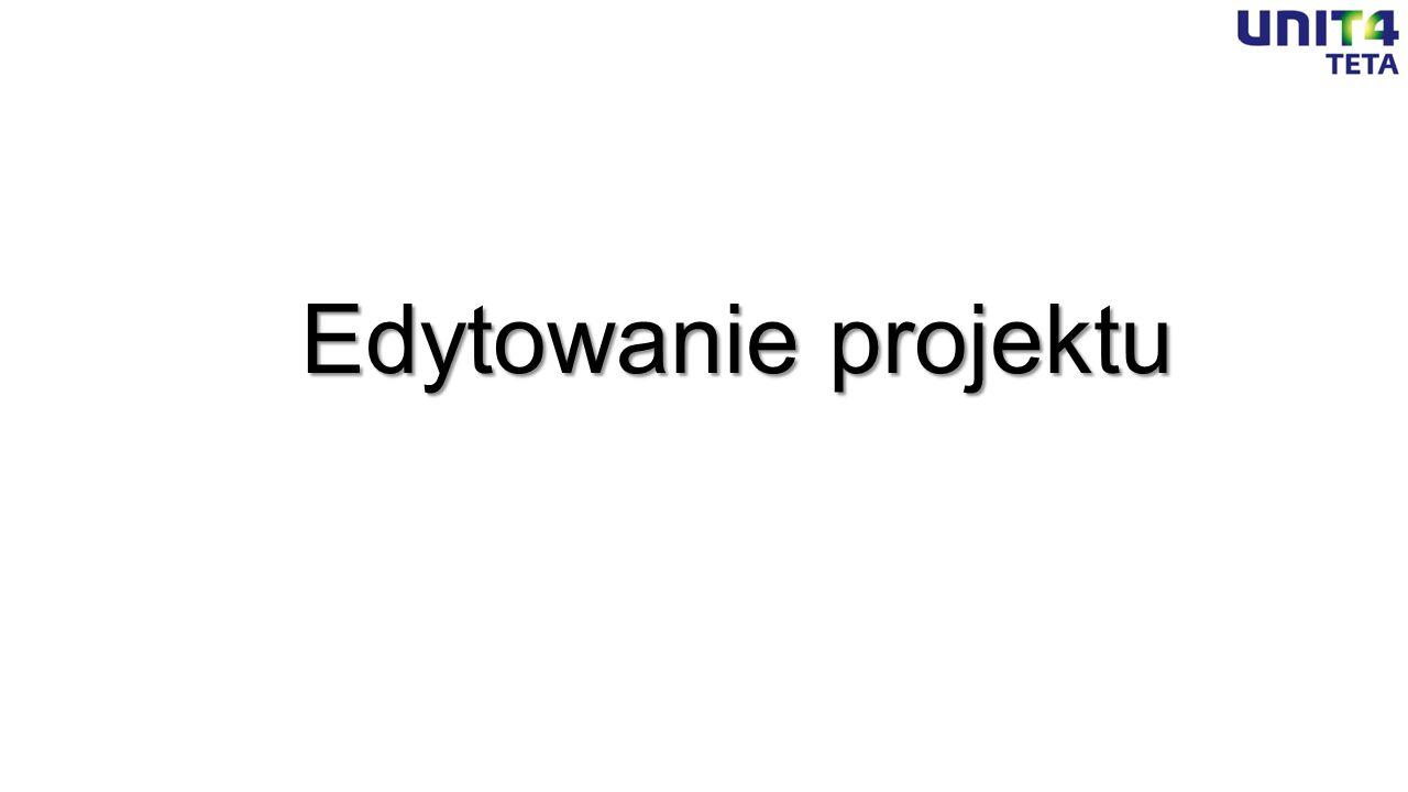 Edytowanie projektu