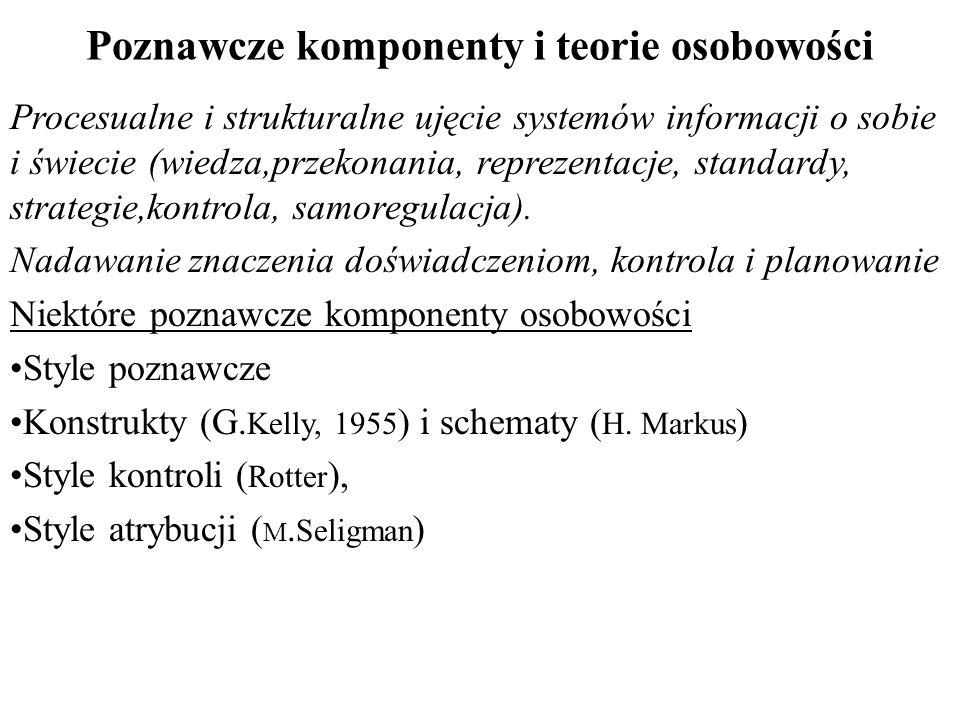 Poznawcze komponenty i teorie osobowości