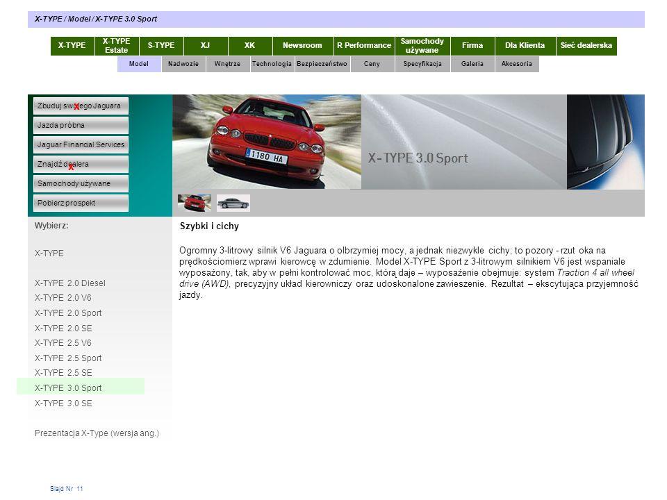 X-TYPE 3.0 Sport x x Szybki i cichy