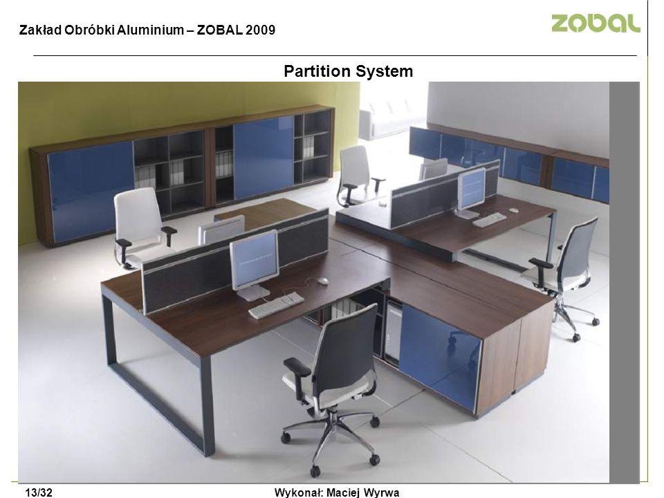 Partition System Zakład Obróbki Aluminium – ZOBAL 2009 13/32