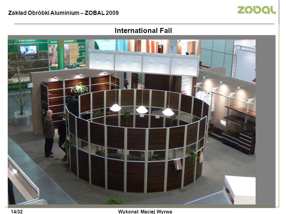 International Fail Zakład Obróbki Aluminium – ZOBAL 2009 14/32