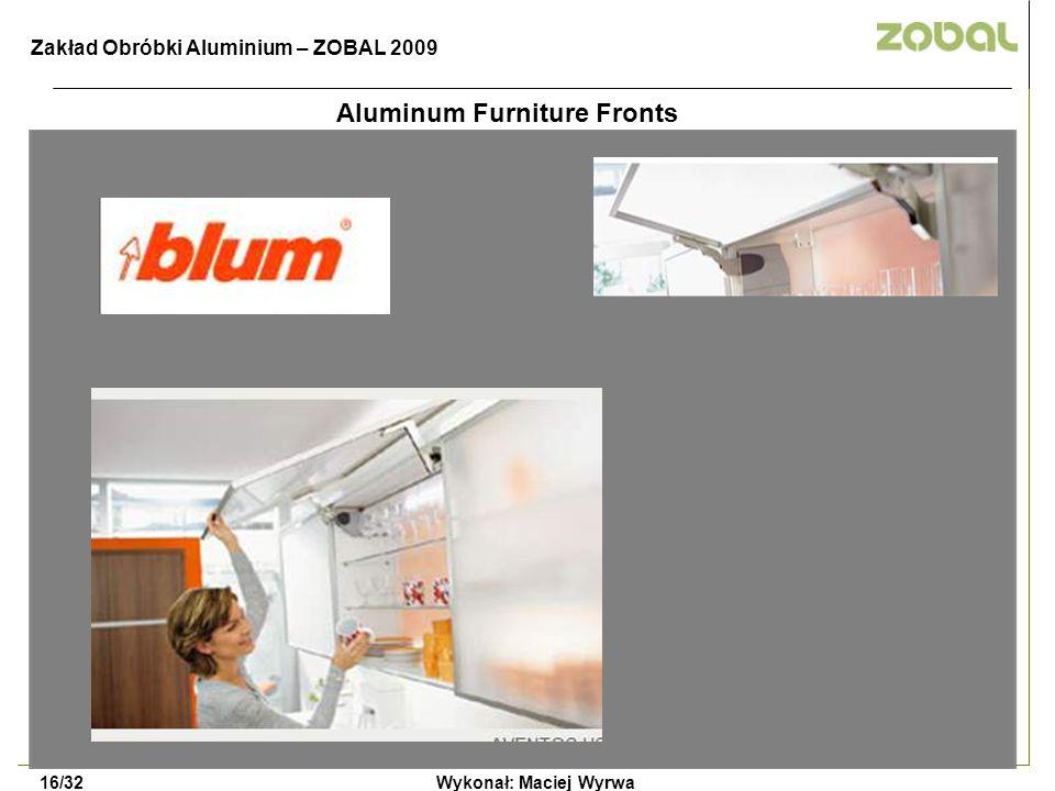 Aluminum Furniture Fronts