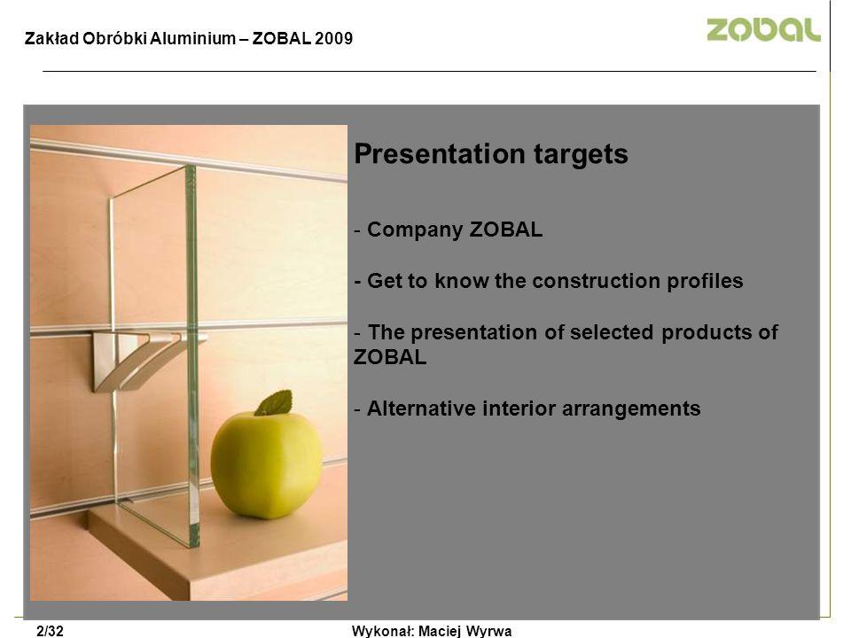 Presentation targets Company ZOBAL