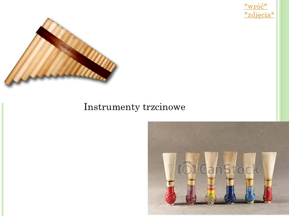 Instrumenty trzcinowe