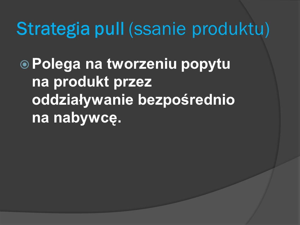 Strategia pull (ssanie produktu)