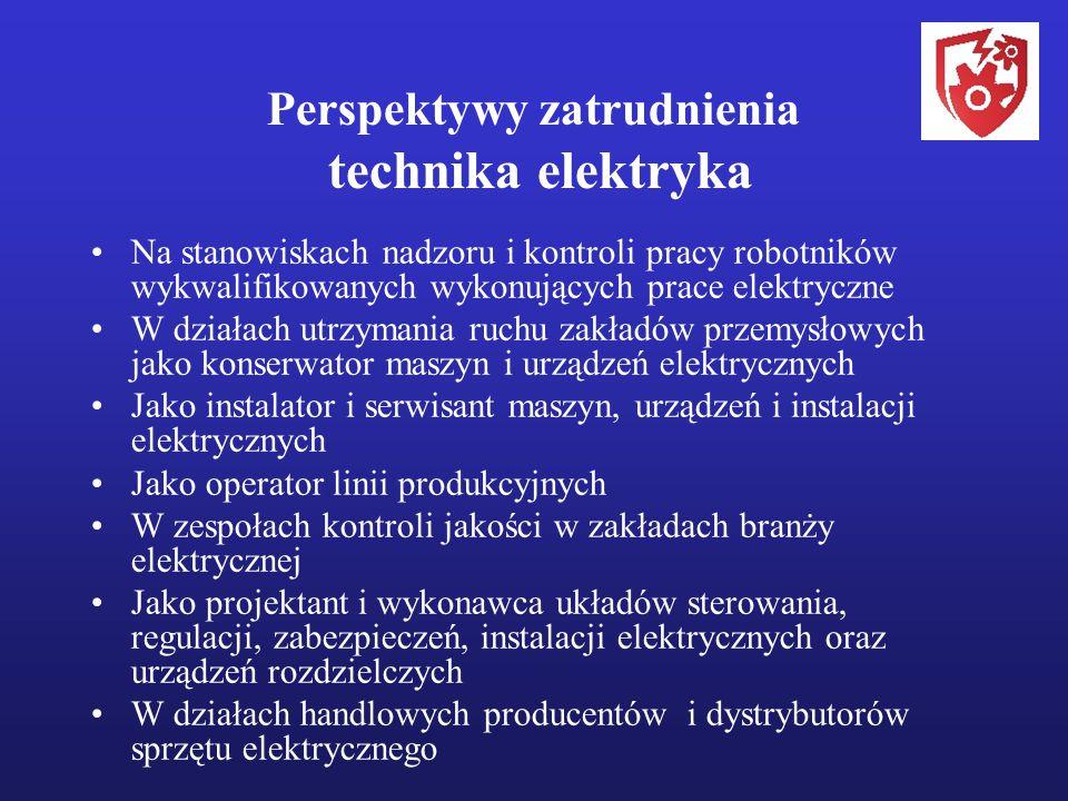 Perspektywy zatrudnienia technika elektryka