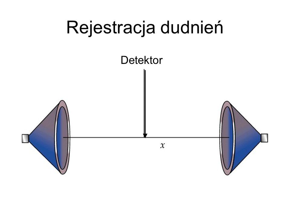 Rejestracja dudnień Detektor