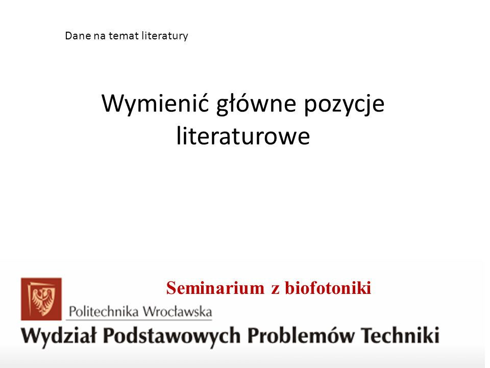 Seminarium z biofotoniki