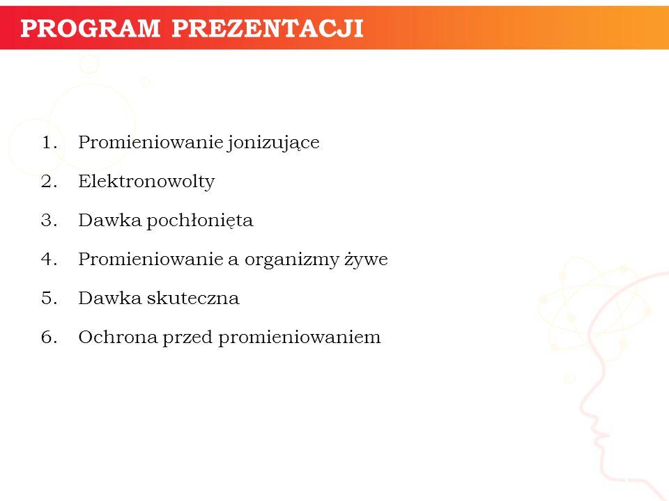 PROGRAM PREZENTACJI informatyka + Promieniowanie jonizujące