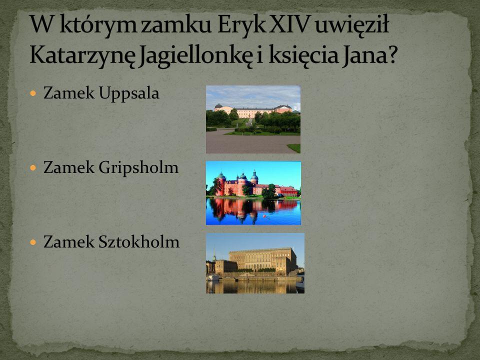 W którym zamku Eryk XIV uwięził Katarzynę Jagiellonkę i księcia Jana