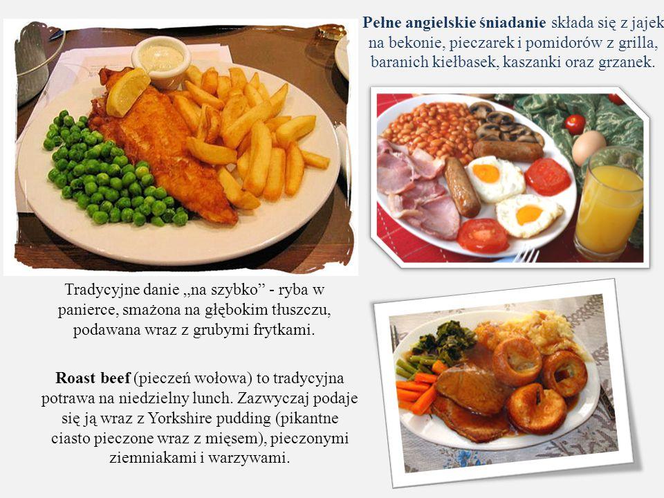 Pełne angielskie śniadanie składa się z jajek