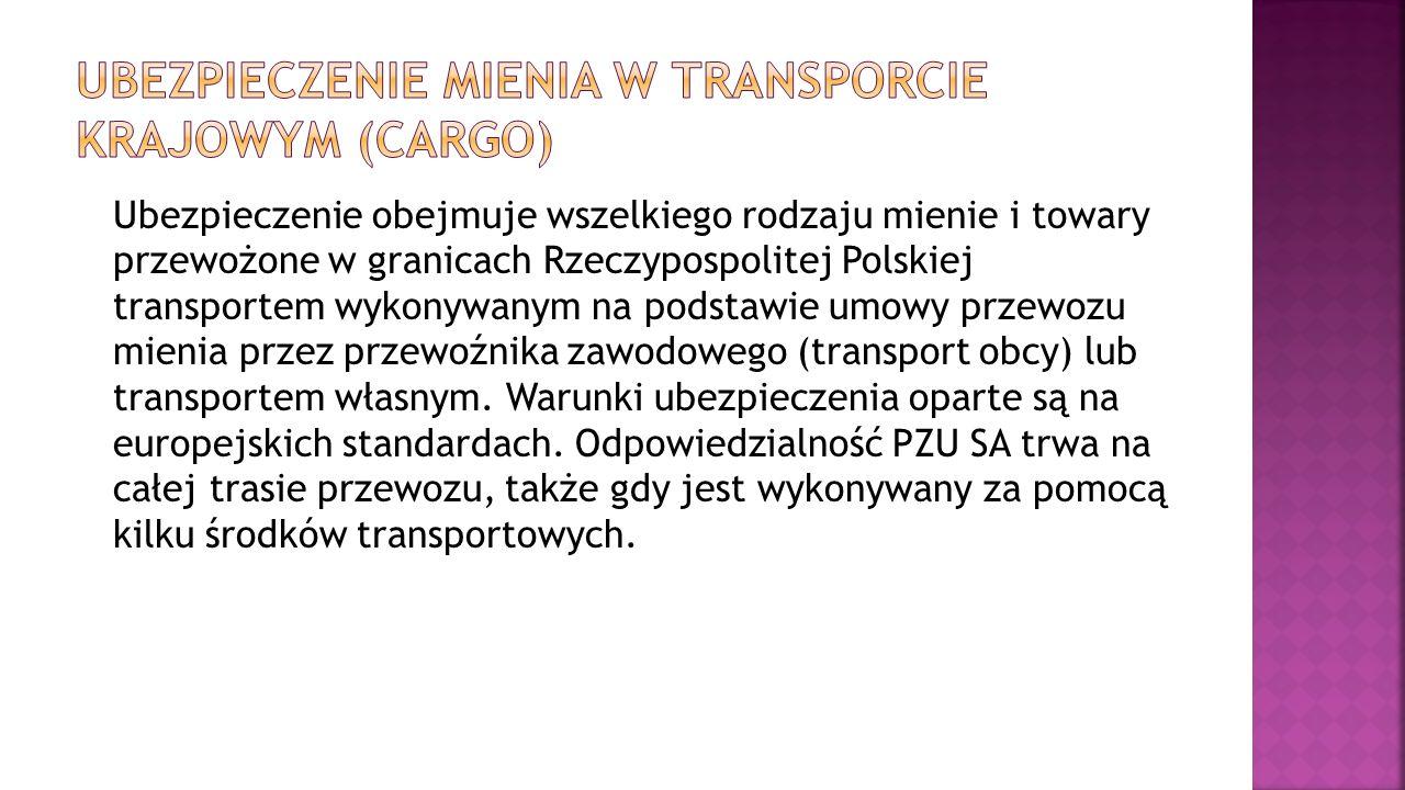 Ubezpieczenie mienia w transporcie krajowym (cargo)
