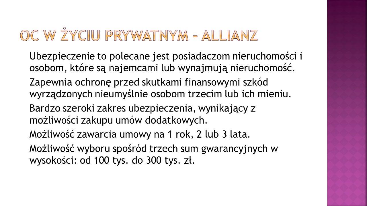 OC w życiu prywatnym – Allianz