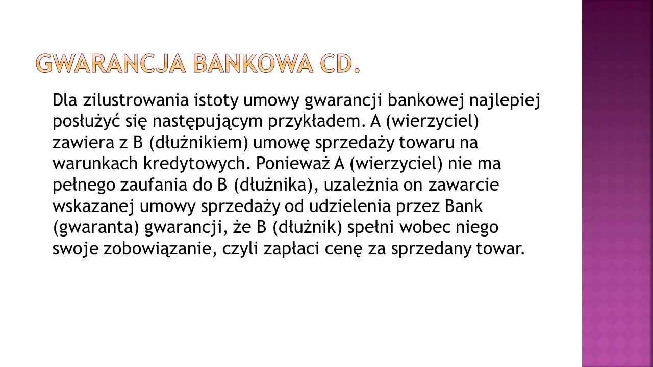 Gwarancja bankowa cd.