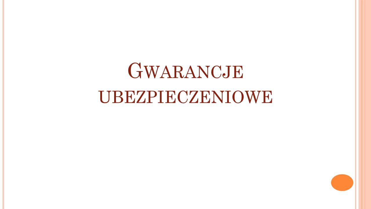 Gwarancje ubezpieczeniowe