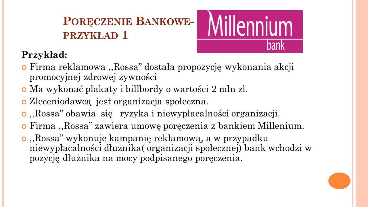 Poręczenie Bankowe- przykład 1