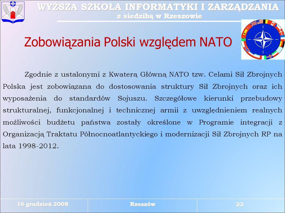 Zobowiązania Polski względem NATO