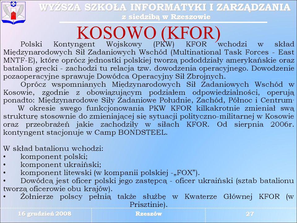 KOSOWO (KFOR)