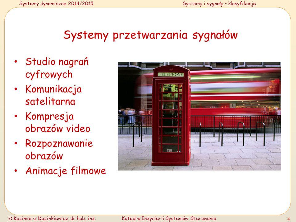 Systemy przetwarzania sygnałów