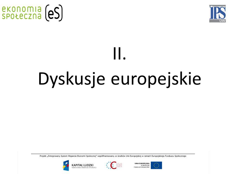 II. Dyskusje europejskie