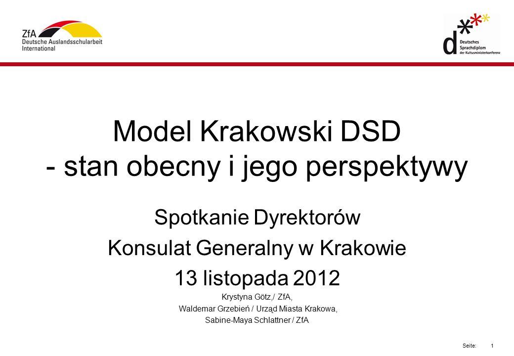 Model Krakowski DSD - stan obecny i jego perspektywy