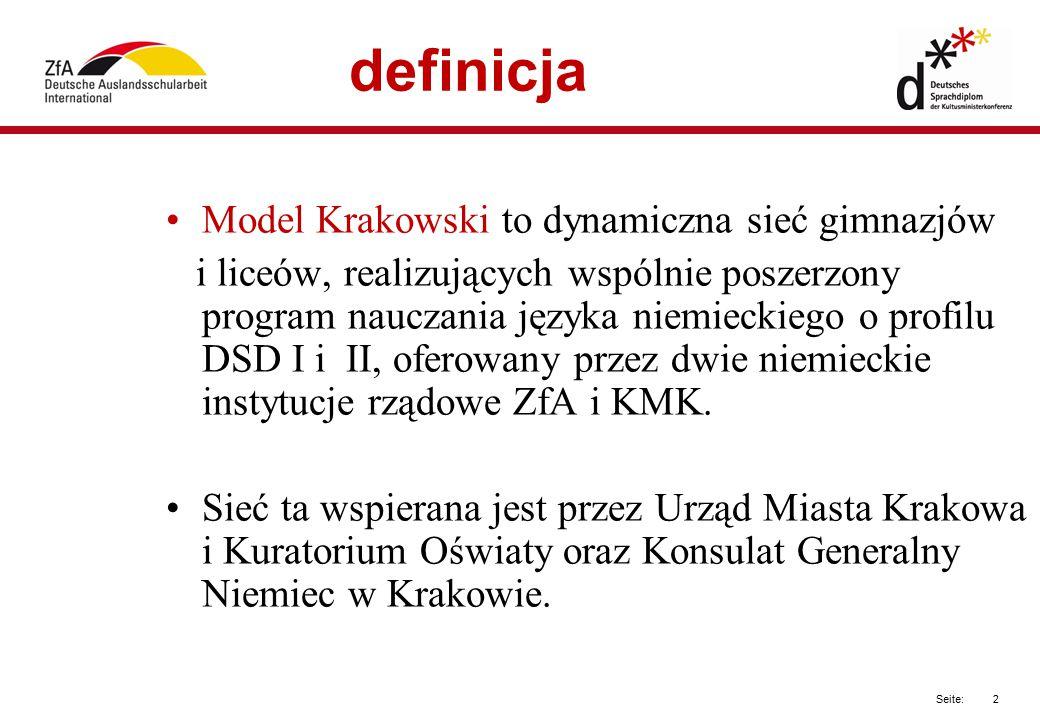 definicja Model Krakowski to dynamiczna sieć gimnazjów