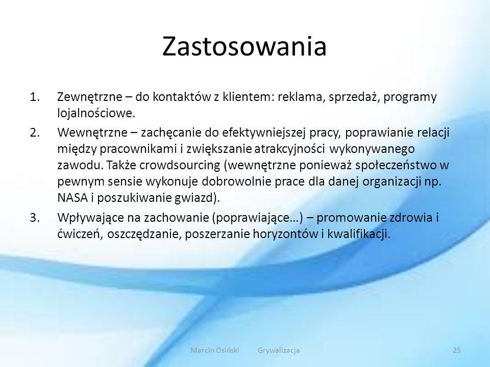 Marcin Osiński Grywalizacja