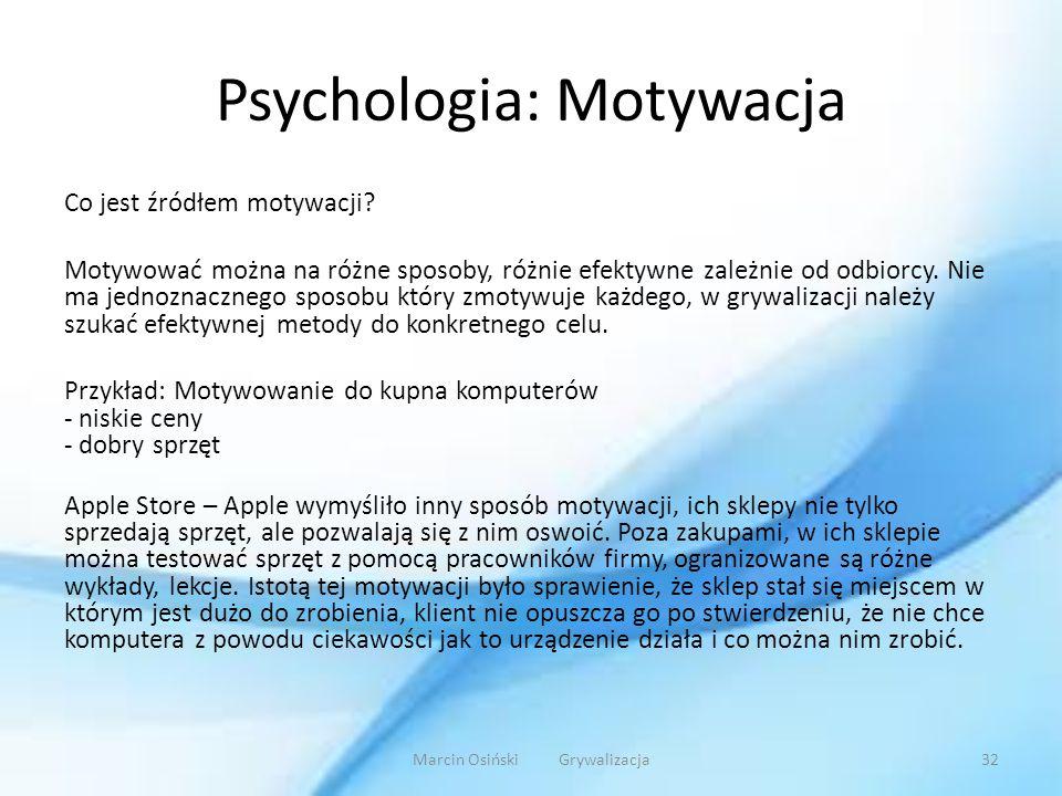Psychologia: Motywacja