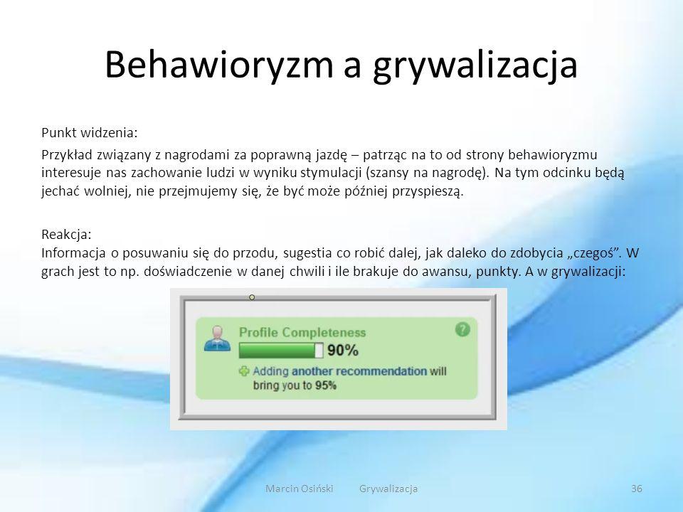 Behawioryzm a grywalizacja