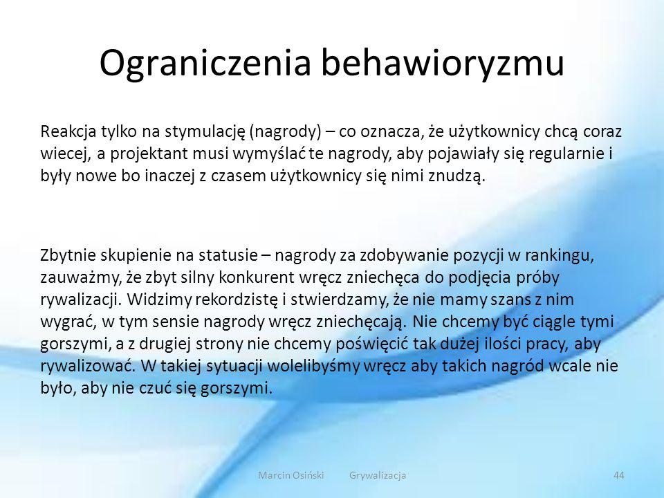 Ograniczenia behawioryzmu