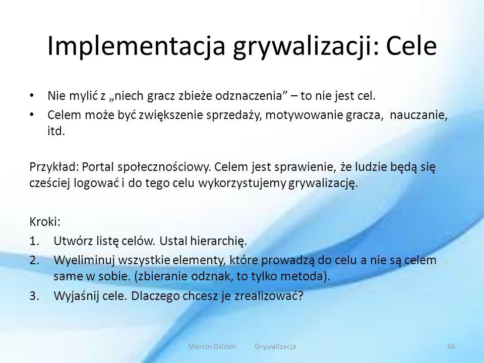 Implementacja grywalizacji: Cele