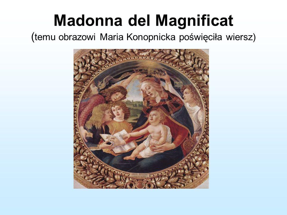 Madonna del Magnificat (temu obrazowi Maria Konopnicka poświęciła wiersz)